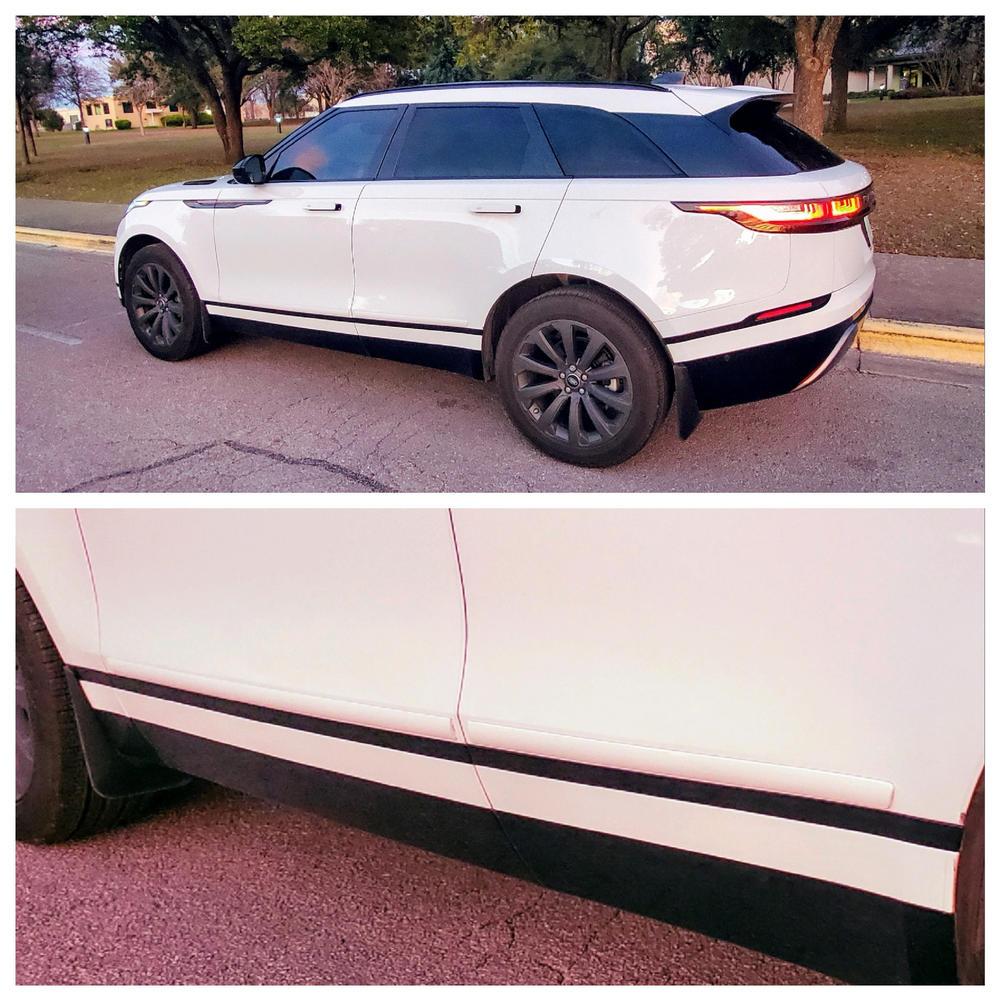 2 sets black red,clear set car door edge protectors  6 inch long