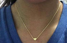 "diyjewelry 925 Sterling Silver Personalized Tiny Initial Heart Necklace Adjustable 16""-20"" Review"
