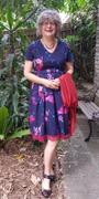 Number 9 Fashion Purple & Red Parrot Bow Tie V Neck Pleated A Line Dress with Sleeves Review