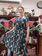 Number 9 Fashion Dark Blue Green Sweetheart A Line Cactus Cotton Dress with Pockets Review