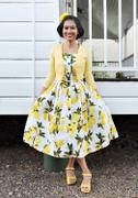 Number 9 Fashion Lemon Strap Dress Rockabilly Swing Dress Review