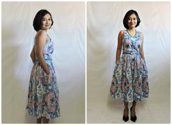 Number 9 Fashion Bright Paisley Strap Dress with Pockets Swing Dress Review