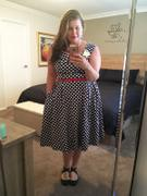 Number 9 Fashion Navy & White Polka Dot Cross Neck Vintage Swing Dress Review