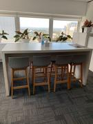 Just Bar Stools Byron Solid Oak Bar Stool in Grey Acrylic Review