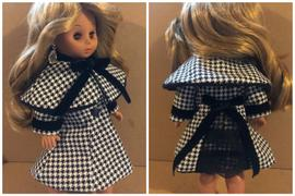 Pixie Faire Ginza Girl Coat and Capelet 18 Doll Clothes Pattern Review