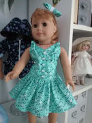 Pixie Faire Seal Beach Sundress 18 Doll Clothes Pattern Review