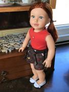 Pixie Faire Drawstring Shorts 18 Doll Clothes Pattern Review