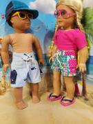 Pixie Faire Surf's Up Board Shorts 18 Doll Clothes Pattern Review