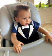 Poshinate Kiddos Baby Bib | Tux Black/White Review