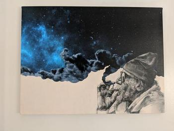 Canvasist Smoking Man Space Canvas Set Review