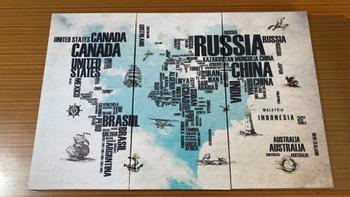 Canvasist World Map with Names Canvas Set Review