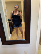 Curvy Sense Plus Size Destroyed Basic Denim Overall Shorts - Dark Wash Review