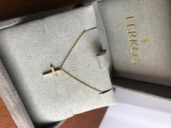 Ferkos Fine Jewelry 14K Gold Micro Pave Diamond Cross Necklace Review