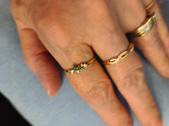 Ferkos Fine Jewelry 14k Emerald and Diamond Cluster Ring Review