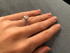 Ferkos Fine Jewelry 14k Ultra Thin Half Eternity Baguette Diamond Stackable Ring Review