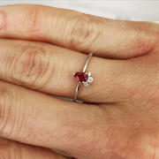 Ferkos Fine Jewelry 14k Mini Ruby and Diamond Ring Review