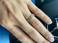 Ferkos Fine Jewelry 14k Gold Emerald Art Deco Wedding Band Review