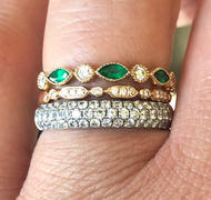 Ferkos Fine Jewelry 14k Marquise Emerald and Diamond Wedding Band Review