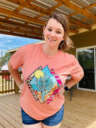 Happily Ever Aften Diamond Desert Cactus Graphic Tee (Sunset) Review