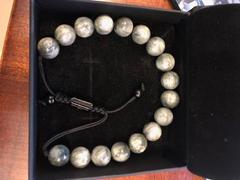 GT collection EAGLE EYE Beaded Bracelet | Grey Gemstones | 10mm Beads Review