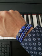 GT collection LAPIS LAZULI Flatbead Bracelet | Blue Gemstones & Black CZ Bead Review