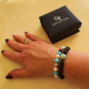 GT collection Women's Beaded Bracelet | Pearl, Aquamarine, Agate Gemstones Review