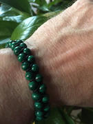 GT collection MALACHITE Beaded Bracelet | Green Gemstones | Double 6mm Beads Review