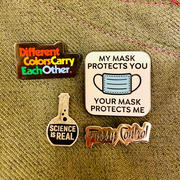 Dissent Pins My Mask Protects You, Your Mask Protects Me Pin Review