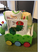 Stork Baby Gift Baskets Cute Caterpillar Wooden Baby Wagon  (#BGC198) Review