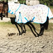 Performance Horse Blankets WeatherBeeta ComFiTec Essential Mesh II Llama Print Combo Fly Sheet Review