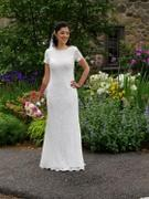 ieie Bridal 2 Piece Modest Cotton Lace Wedding Dress with Short Sleeves | Lorelle Review