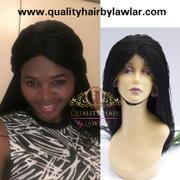 QualityHairByLawlar Micro Twist Fully Hand Braided Lace Wig (1B) Review