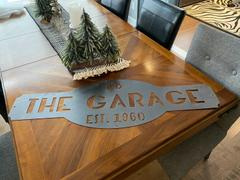 Maker Table Custom Metal Sign - Personalized Last Name Wall Art - Garage, Workshop, Man Cave Decor Review