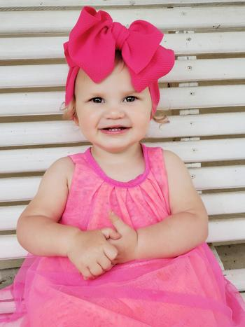 Bailey's Blossoms Messy Bow Headwrap - Pink Passion Review