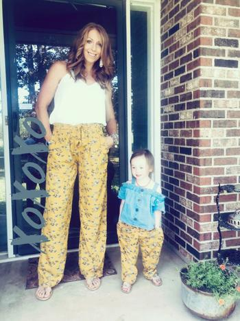 Bailey's Blossoms Mommy & Me Bethany Palazzo Pants - Mustard Floral Review