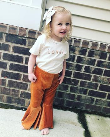 Bailey's Blossoms Velour Pleated Bell Bottoms - Camel Review