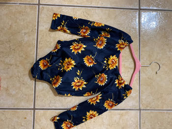 Bailey's Blossoms Livee Long Sleeve Leotard - Navy and Junie Sunflower Review