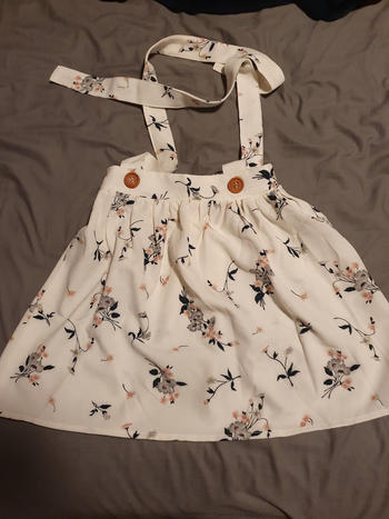 Bailey's Blossoms Daphne Pleated Suspender Skirt - Whisper Blossom Review