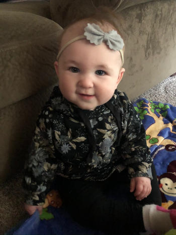 Bailey's Blossoms Bow Headband Variety Pack - Lace, Gray and Navy Dot Review