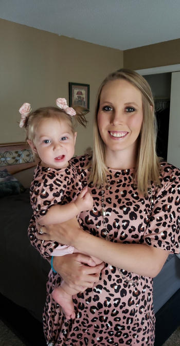 Bailey's Blossoms Tatum Mommy & Me Tee Shirt Dress - Lady Leopard Review