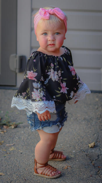 Bailey's Blossoms Bella Long Sleeve Bubble Romper - Black Floral Review