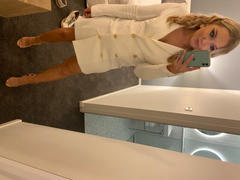 Vestrr Milano Blazer Dress Ivory Review
