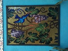 Mozaico Mosaic Mural - Blue Bird in Gold Review