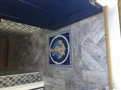 Mozaico Bright Anchor on a blue background Marble Mosaic Review