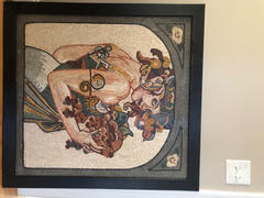 Mozaico Woman carrying fruits Mosaic Mural Art Review