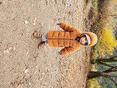 Jen - Noble Carriage Patagonia Baby Recycled Hi-Loft Parka in Umber Brown Review