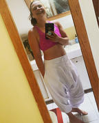 Buddha Pants® White Fall Solid Harem Pants Review