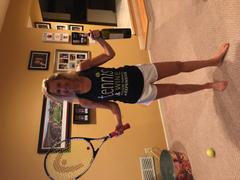 Hit Happy Tennis Tennis and Wine - Ladies Racer Back Tank Top Review