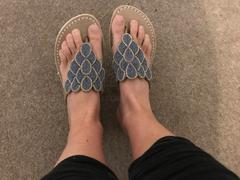 laidback london Laith Flat Leather Sandal Silver Review