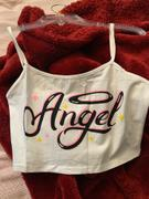 Tumblebee Clothing Angel Graphic Print Tank - White Review